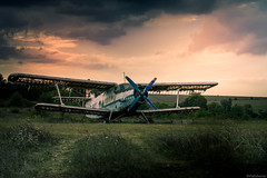 New (@Dpalichorov) Tags: grass field landscape outside outdoor nikond3200 nikon d3200 green kalimanci bulgaria калиманци българия plane airplane air aircraft transport vechicle broken old new abandoned wing exhibit bad weather badwether dark sky darksky clouds storm sunset light nikonflickraward