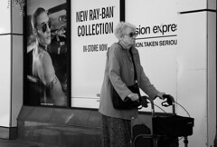 Eh Want A Lift Lady? (WorcesterBarry) Tags: blackwhite bnw blackandwhite places people photographers portrait street streetphotography streetphoto candid city poster travel adventure advertisement