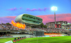 Fire at Lord's (andy.gittos) Tags: fire sunset lords cricket t20 blast london stadium ground sky clouds colour