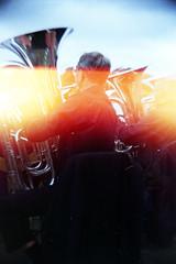 tubas with light leak (pho-Tony) Tags: toycameras classiccameradiytlr haynes manual classic camera haynesmanualclassiccamera haynesmanual kit plastic toy novelty 35mm receskytlrdiycamera recesky tlr diy gakkenflex ishootfilm agfavista agfa vista iso 200 poundland tetenal c41