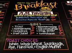 Breakfast (center) (Pixel & Smudge) Tags: chalkart chalkboard art chalk
