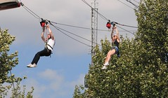 """Zip Wire""...Archbishop's Park Lambeth. London. UK (standhisround) Tags: people zipwire ride park trees wire london lambeth england uk archbishoppark male female women girl sky"