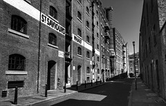St Saviours Wharf (Westhamwolf) Tags: st saviours wharf london city england bw black white street road shad thames