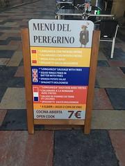 (annebethvis) Tags: pelgrim menu compostela