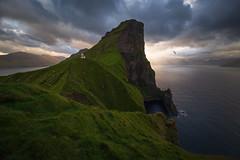 Kallur lighthouse, Faroe Islands (sven483) Tags: kallur kalsoy trollanes faroe islands cliffs lighthouse sunset landscape panorama