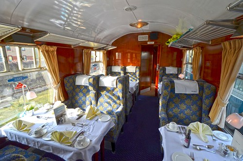 Heritage train Mk1 dining interior