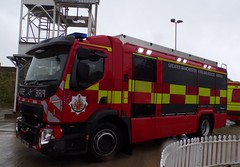 6143 - GMFRS - PO18 TVW - 101_2555 (Call the Cops 999) Tags: 999 112 uk gb united kingdom great britain england north west emergency service services fire and rescue open day saturday 8 september 2018 rochdale greater manchester tru technical response unit volvo rosenbauer at po18 tvw