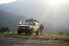 Relaxion in the mountains (TryVision) Tags: relaxation mountains mountain carpathians ukraine top car camping parking nikon d5300 documentary