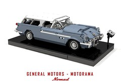 General Motors - Motorama 1954 Corvette Nomad (lego911) Tags: chevrolet chevy chev corvette nomad wagon 1954 gm general motors motorama hardtop blueflame 1950s classic auto car moc model miniland lego lego911 ldd render cad povray afol usa america american concept show sportscar foitsop