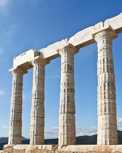 Temple of Poseidon, Sounion 440 BC 3/11/09 #greek #architecture