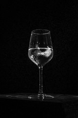 M e l t i n g   h e a r t..... (vishalkerkar77) Tags: flash cold ice love h2o water droplets glass blackandwhite monochrome