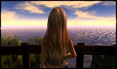 Endless horizon (Shara Thiva) Tags: sl second life horizon sea water woman girl alone strawberry lake
