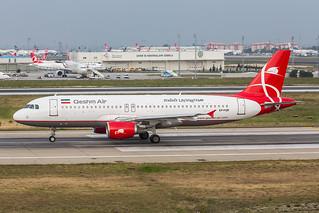 EP-FQR, Airbus A320-211 Qeshm Air @ Istanbul-Atatürk IST LTBA