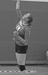 IMG_2877 (SJH Foto) Tags: girls high school volleyball teens team east stroudsburg varsity serve burst mode black white blackandwhite bw monocolour