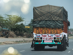 Trucks of India - Blow Horn (nicklaborde) Tags: 500px truck mode transport transportation driver traffic pickup road car vehicle india indian jaipur