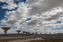 Listening... (Cliff Hall) Tags: nrao newmexico vla radiotelescope dish clouds