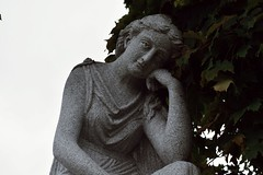 Autumn Thoughts (Clavicle Moundshroud) Tags: hopecemetery barrevermont taphophile tombstonetourist graveyard haunts statue vermont