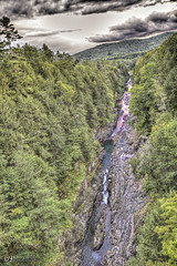 The Quechee Gorge (Pearce Levrais Photography) Tags: mountain sky cloud gorge valley river stream whitewater deep canon hdr picoftheday photooftheday explore vermont quechee