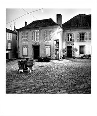 Snapshot from France (Missy Jussy) Tags: saintyrieixlaperche southwestfrance dordogne holiday trip travel tourism homes setts street dogs man moon mono monochrome village town blackwhite bw blackandwhite canon 50mm ef50mmf18ll ef50mm canon50mm fantastic50mm