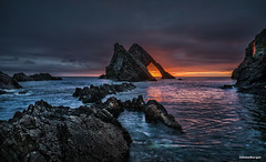 Bow Fiddle Rock (Anne.Berger) Tags: bowfiddlerock schottland scotland seascape arch coast sunrise sonnenaufgang küste fels meer