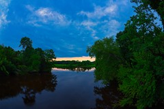 IMG_8970 (Desmojosh) Tags: rancocas creek nj new jersey mount laurel canon eos eosm m altura 8mm f3 river sky sunset clouds trees water green blue reflection reflections landscape