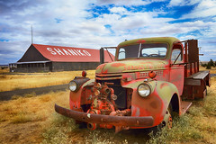 Old Fire (Ian Sane) Tags: ian sane images oldfire antique fire truck shaniko cross hollows oregon semighost town truckthursday wool sheep history centraloregon landscape photography canon eos 5ds r camera ef1740mm f4l usm lens