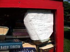 Little Free Library (haunted snowfort) Tags: littlefreelibrary littlelibrary library roadsidelibrary grimsby ontario canada niagara books novels reading reads note haveaniceday thatwouldbegreat