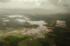 Hello Mumbai !!! (Debmalya Mukherjee) Tags: debmalyamukherjee motog5splus mumbai plane green monsoon mangrove