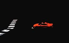 A Red Car (flightofthealone) Tags: car cars night black dark saturated colour light red white summicron leica m2 35mm street ektar100 ektar film analogue