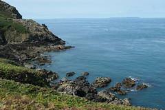 North Coast, Sark in the distance (Monceau) Tags: northcoast jersey hiking sark island distance inlet coast sea horizon