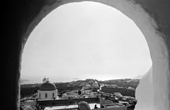Pyrgos view (•Nicolas•) Tags: analog bw film fp4 greece holidays ilford ilfosol leica m4p nb pellicule vacances pyrgos church église arch arche wall mur nicolasthomas