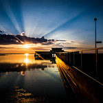 Magical summer sunset in Borgholm thumbnail