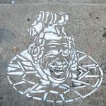 Stencil on pavement [Lyon, France] thumbnail