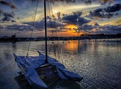 Sunset Reflections (jcc55883) Tags: sunset sky clouds silhouette reflections ocean pacificocean alawaismallboatharbor dukekahanamokubeach alamoanaarea hawaii luckywelivehawaii honolulu oahu skyporn boat sailboat ipad hilife hilife808 808