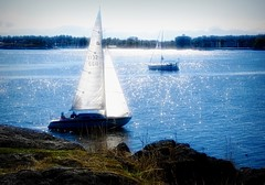 Thought is the wind and knowledge the sail. ..David Hare (Nick Kenrick . AWAY) Tags: sailing boat yacht glow