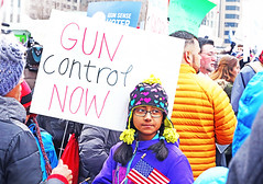 American (kirstiecat) Tags: racism america nationalism patriotism protest girl daughter kid child progressive sign guncontrolnow nra marchforourlives schoolsafety momsdemandaction gunsafety impeachtrump resistfascism resist chicago illinois usa usflag flag saturation colors heart