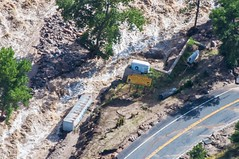 Shown is structural damage through Northern Colorado: Boulder, Longmont, Estes Park, Lyons, and Hwy 34 along the Big Thompson River. (CONG)