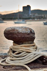 Dock bollard (picturesofalife) Tags: bokeh picturesofalife nikkorafs50mmf14 50mm d5600 nikon dock bollard
