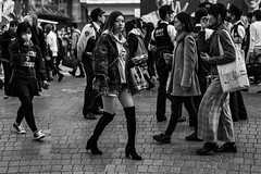 Eyes Wide Open (burnt dirt) Tags: asian japan tokyo shibuya station streetphotography documentary candid portrait fujifilm xt1 bw blackandwhite laugh smile cute sexy latina young girl woman japanese korean thai dress skirt shorts jeans jacket leather pants boots heels stilettos bra stockings tights yogapants leggings couple lovers friends longhair shorthair ponytail cellphone glasses sunglasses blonde brunette redhead tattoo model train bus busstation metro city town downtown sidewalk pretty beautiful selfie fashion pregnant sweater people person costume cosplay boobs