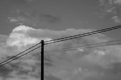 Pole (Jontsu) Tags: pole sky black white bw fuji fujifilm fujifilmxe2 helios 58mm f2 clouds pilvet taivas suomi finland tolppa mirrorless minimalistic minimal