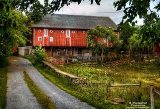 Lancaster County Country Red Barn, Bainbridge Pennsylvania