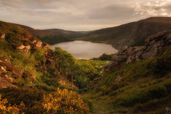 Last light over Lough Tay... (fearghal breathnach) Tags: loughtay wicklow wicklowmountains ireland landscape indurotripods canon lake goldenhour