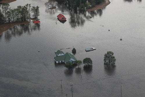 View of flooded areas in North Carolina, September 17.