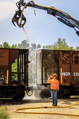 The Pause That Refreshes (sdl39hogger) Tags: wsor watco wisconsinsouthern ballasttrain mow