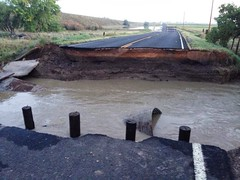Colorado Blvd north of Highway 7 is washed away on September 14, 2013. (Eric Lupher)