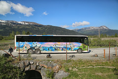 A long way from home (crafty1tutu (Ann)) Tags: travel holiday 2018 canadaandalaska alaska bus tour crafty1tutu canon5dmkiii canon24105lserieslens anncameron road mountain sky grass vehicle transit