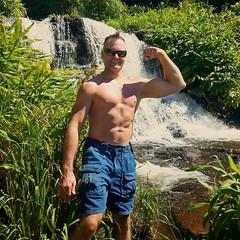 waimea canyon (ddman_70) Tags: shirtless pecs abs muscle hiking waterfalls