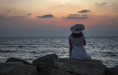DSC_1769 (Dan_lazar) Tags: charlesclore telaviv israel beach shofar roshhashana jews sea sunset prayer bw bnw blackandwhite orthodox