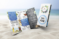 BlueOcean_MockupTriptico_10x29 (FredPez) Tags: design diseño menu menú restaurante bar restaurant fresh summervibes modern elements tríptico trifold bifold díptico