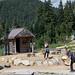 Grouse Mountain Lumberjack ax throwing